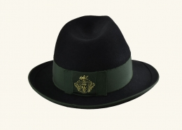 Ausseer Hut schwarz, rückwärts bestickt - 102 017 99 13 1