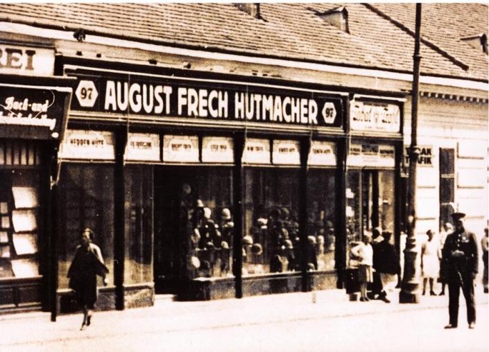 Hutgeschäft Von August Frech In Wien Um 1930