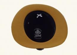 Damenhut Wollfilz zweifärbig senf-oliv 134-083-164-03