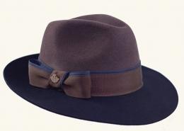 Damenhut braun-blau 180-47-150-03
